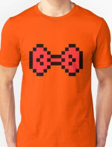 Red Pixel Bow Unisex T-Shirt