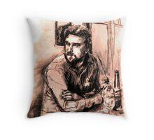 Man at Bar 1 Throw Pillow
