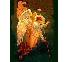 Angel, Halo, Giving Benediction, Church, St Petersburg, Russia Photographic Print