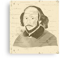 Vintage Portrait of William Shakespeares Canvas Print