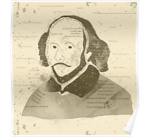 Vintage Portrait of William Shakespeares Poster