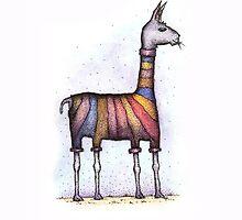 llamas get cold by Adrienne Kapalko