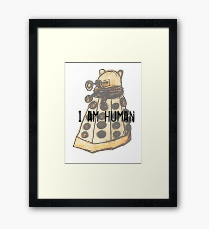 I Am Human Framed Print