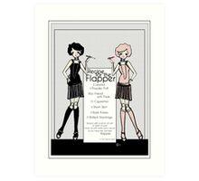 Gatsby Girl 1920s Recipe for Flapper  Art Print