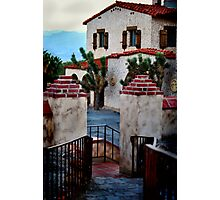 Scotty's Castle from the guest house walkway Photographic Print
