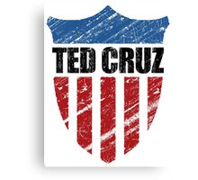 Ted Cruz Patriot Shield Canvas Print
