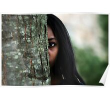 Girl Behind the Tree Poster