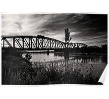Missouri River Railroad Bridge Poster