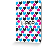 K-POP holic Greeting Card