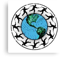 Disc Golfing Planet Earth Canvas Print