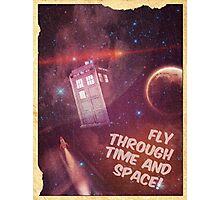 Retro Doctor Who Tourism Photographic Print