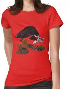 Humpback Whales Womens Fitted T-Shirt