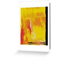 Lemon Yellow Sun Greeting Card