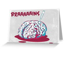 Brain [is] food Greeting Card