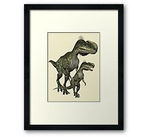 On The Hunt , Dinosaurs Framed Print