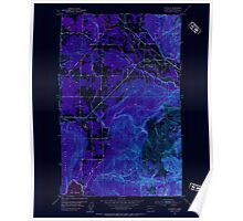 USGS Topo Map Washington State WA Lawrence 241956 1952 24000 Inverted Poster