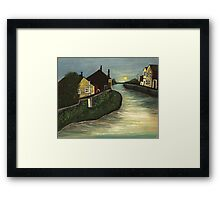 Living By The Water Framed Print