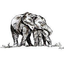 Elephant Hugs by Lisa Pike