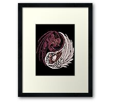 Yin Yang (for stickers and light colored shirt) Framed Print