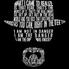 Breaking Bad - Walter White/Heisenberg Typography (White Print) by saycheese14