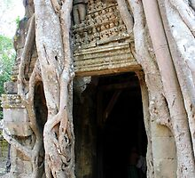 Banyan Doorway in Angkor by signaturelaurel