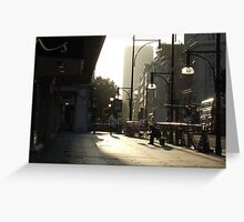 Early morning, Oxford Street. Greeting Card