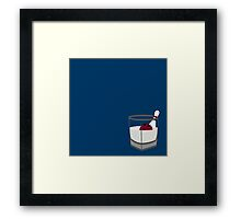 Hey, careful, man, there's a beverage here! Framed Print