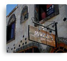 """"""" Mozzi's Saloon """" Canvas Print"""