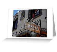 """ Mozzi's Saloon "" Greeting Card"