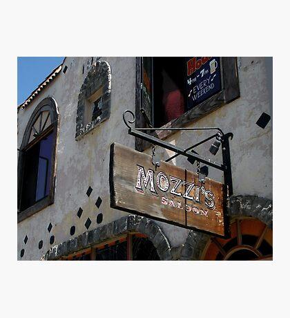""""""" Mozzi's Saloon """" Photographic Print"""