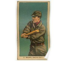 Benjamin K Edwards Collection G Browne Chicago Cubs baseball card portrait Poster