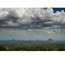 Clouds over Glasshouse Mountains Photographic Print