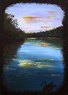 The peaceful river - black swan series #1 by Elisabeth Dubois