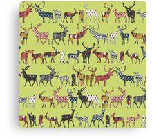 pistachio spice deer Canvas Print