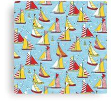 seagulls and sails Canvas Print