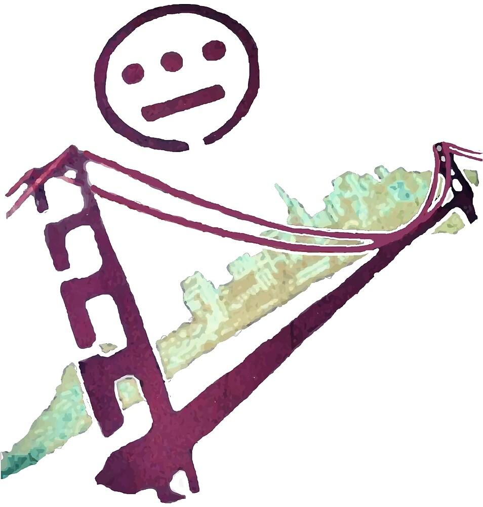 Stencil Golden Gate San Francisco Outline by dswift