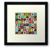 patch girl Framed Print