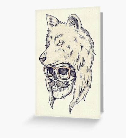 Wolf Hat Greeting Card