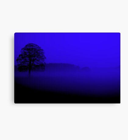 """BLACK-N-BLUE"" Canvas Print"