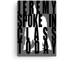 Jeremy in Class Canvas Print