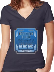Blue Ice (Breaking Bad) Women's Fitted V-Neck T-Shirt