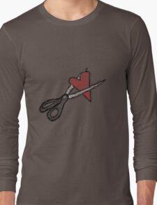 Scissors+heart= Long Sleeve T-Shirt