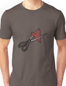 Scissors+heart= Unisex T-Shirt