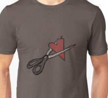 Scissors+heart= Unisex T-Shirt