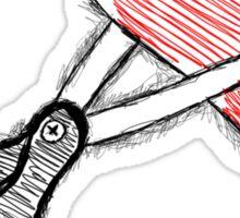 Scissors+heart= Sticker