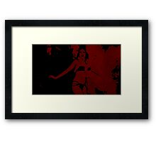 Santanico Pandemonium (blood red) Framed Print