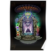 Alien alchemist burner's psychedelic dream temple Poster