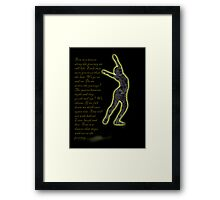 Time is a Dancer Framed Print