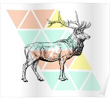 Abstract Elk Poster