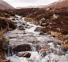 Glas Allt Waterfall, Scottish Highlands by Michael Firkins